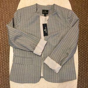 NWT Worthington Grey Pinstripe Blazer